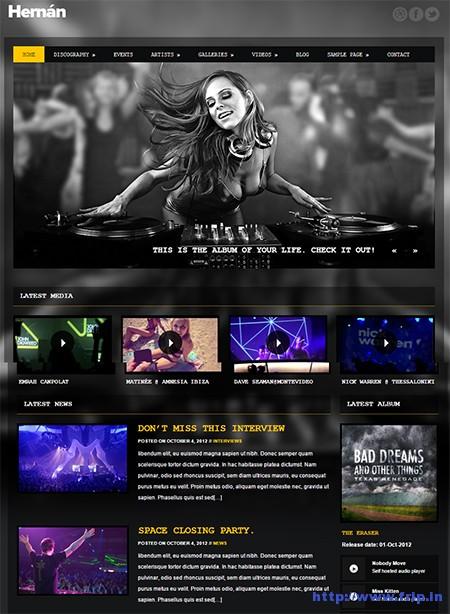 Hernan-Music-WordPress-Theme