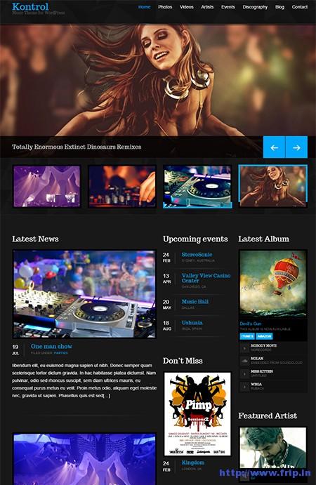 Kontrol-Music-WordPress-Theme