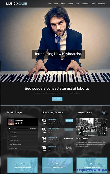 Music-Club-WordPress-Theme