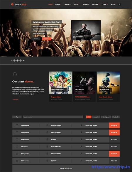 MusicHub-Music-WordPress-Theme