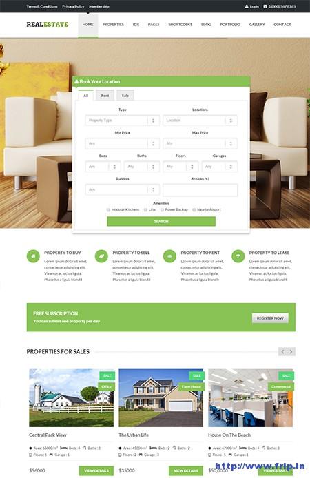 Real-Estate-Responsive-WordPress-Theme