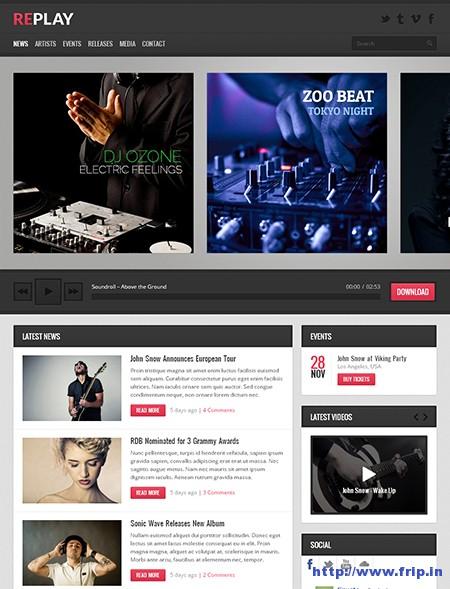 Replay-Music-WordPress-Theme