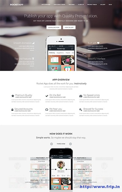 Rocket-App-Responsive-Theme