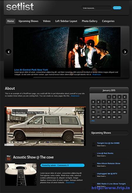 Setlist-Music-WordPress-Theme
