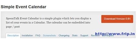 Simple-Events-Calendar-Plugin