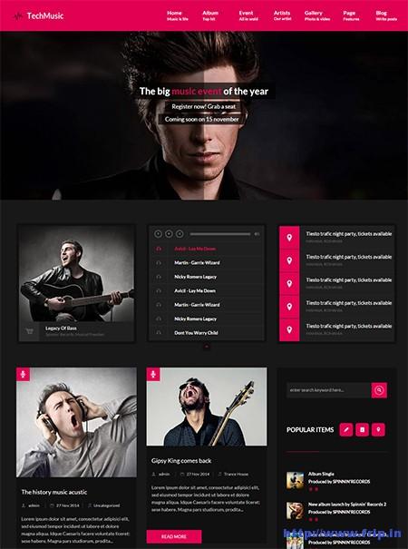 Tech-Music-WordPress-Theme