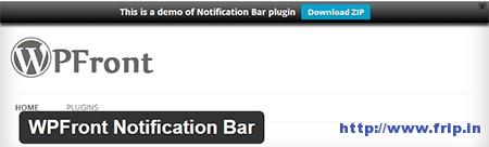 WPFront-Notification-Bar-Plugin