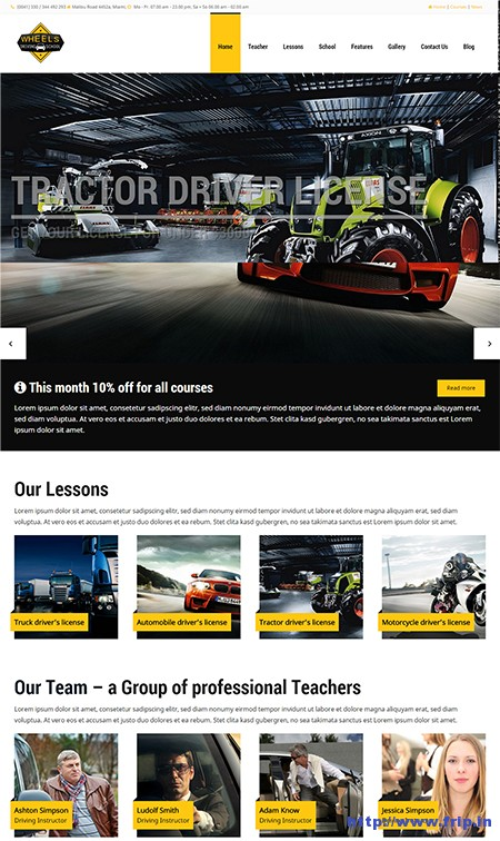 Wheels-Driving-Schools-WordPress-Theme