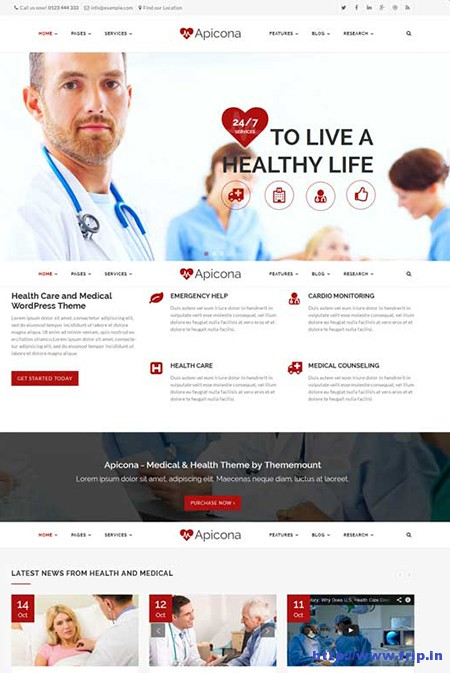 Apicona-Medical-WordPress-Theme