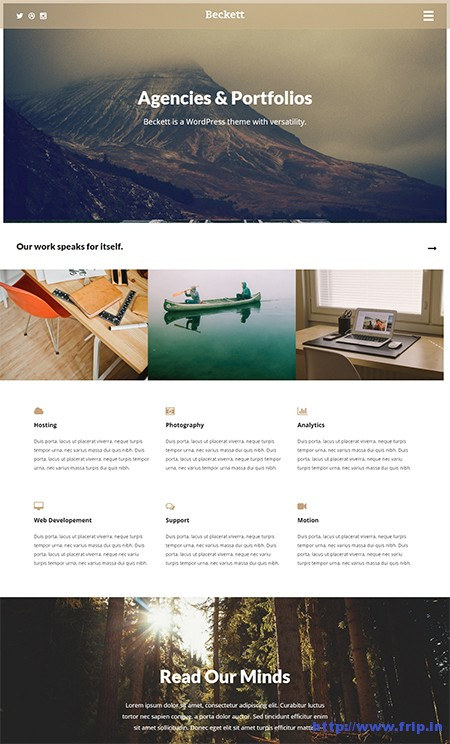 Beckett-WordPress-Theme