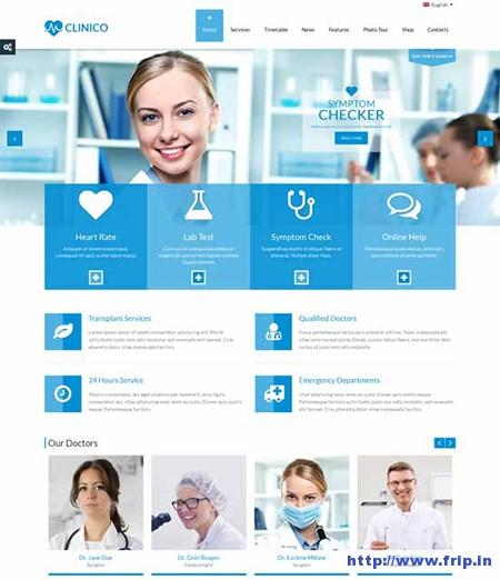 Clinico-Medical-Health-WordPress-Theme