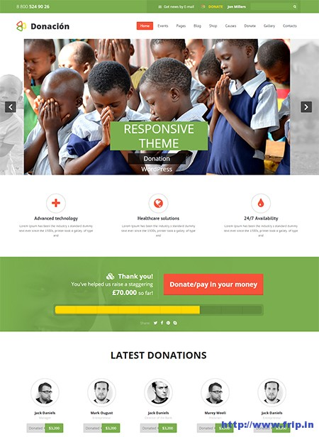 Donation-Responsive-WordPress-Theme