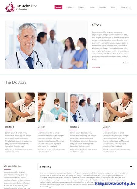 Dr-Doe-One-Page-WordPress-Theme
