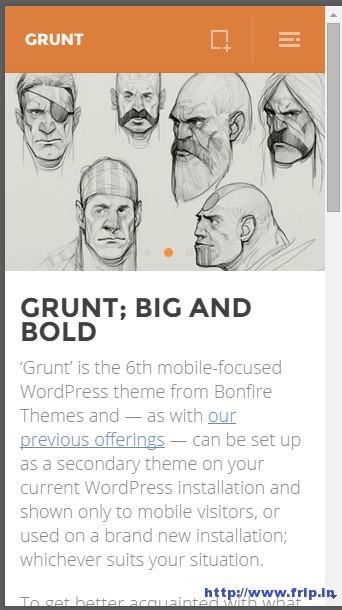 Grunt-Mobile-WordPress-Theme