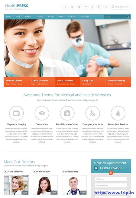 HealthPress-Medical-WordPress-Theme