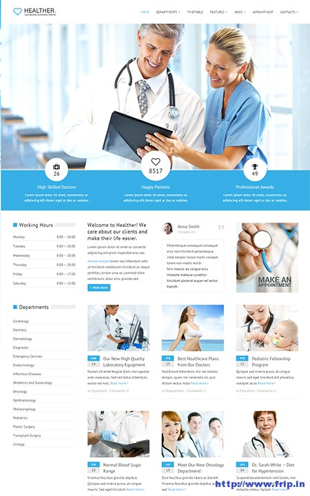 Healther-Medical-WordPress-Theme