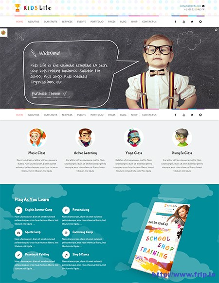 Kids-Life-kindergarten-wordpress-theme
