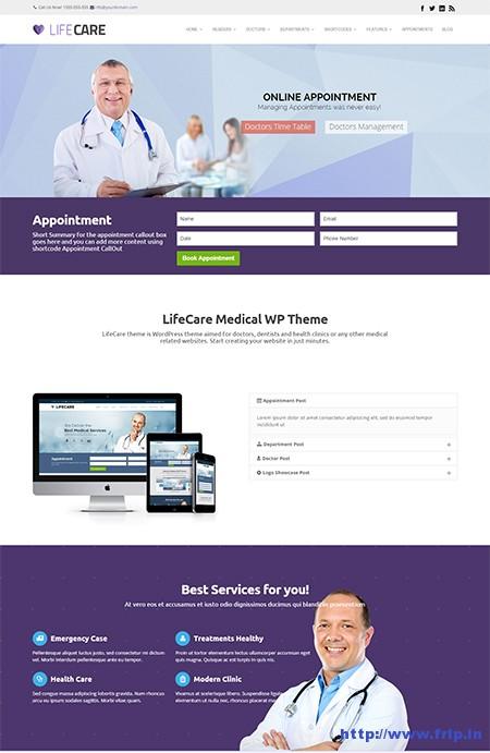 Lifecare-Medical-WordPress-Theme