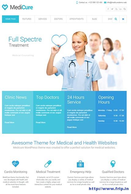 Medicure-Health-WordPress-Theme