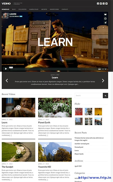 Vidiho-Video-WordPress-Theme