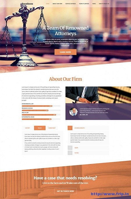 Baratheon-Law-Firm-WordPress-Theme