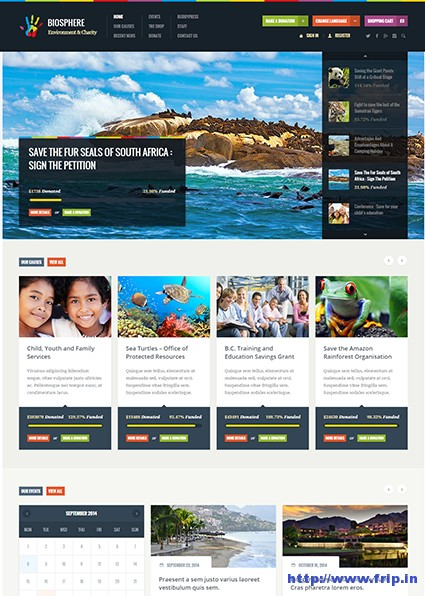 Biosphere-Environmental-WordPress-Theme