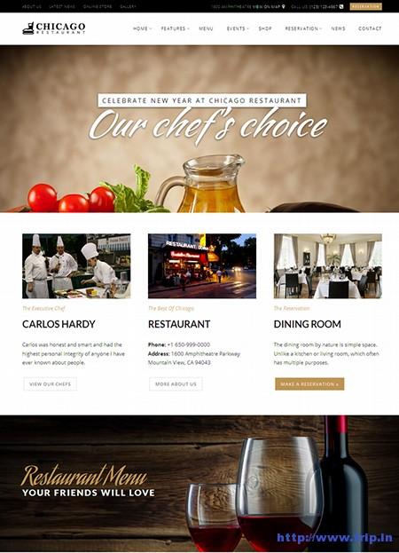 Chicago-Restaurant-Café-Bistro-WordPress-Theme