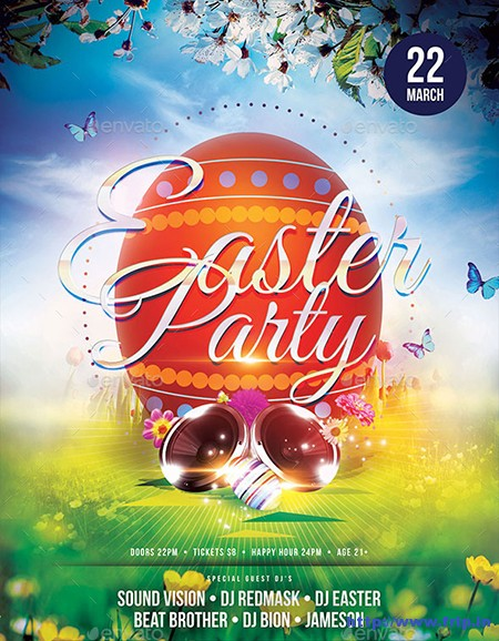 Easter-Party-Flyers