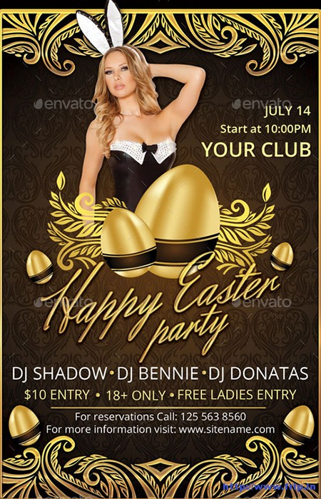 Gold-Happy-Easter-Flyer