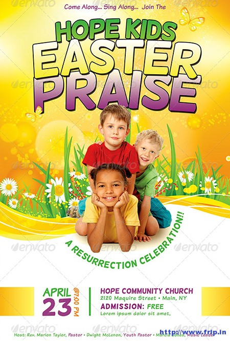 Kids-Easter-Praise-Church-Template