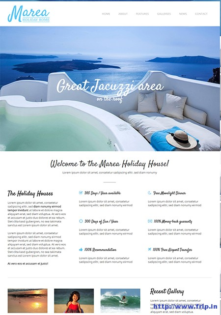 Marea Holiday WordPress Theme