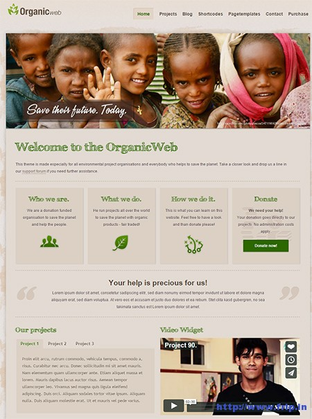 Organic-Web-Environmental-WordPress-Theme