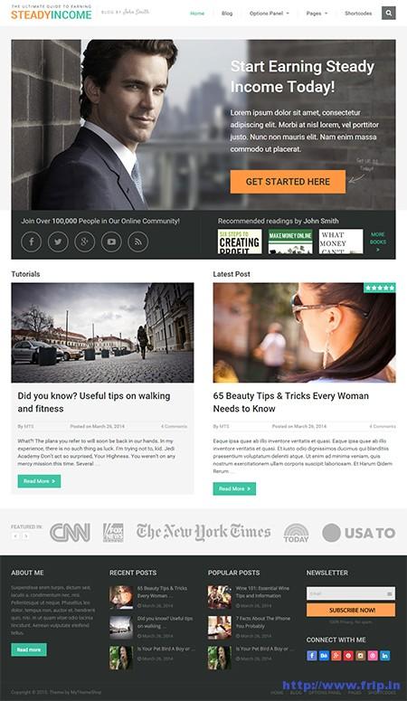 Steady-WordPress-theme