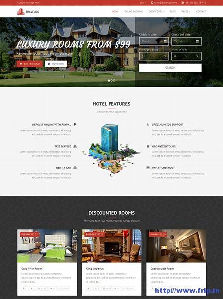 Travelico-Hotel-Booking-WordPress-Theme