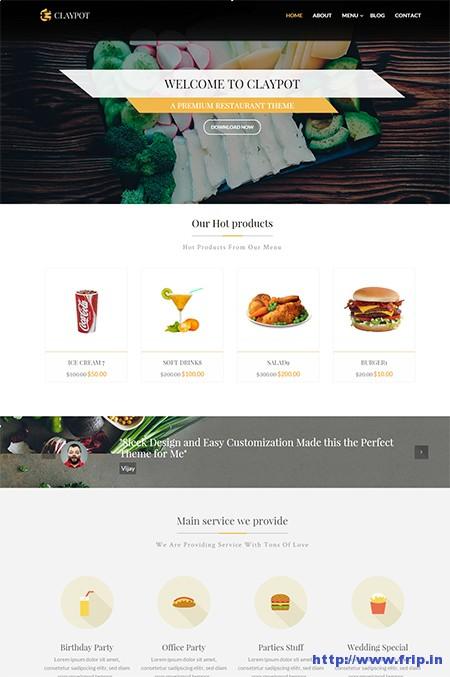 Claypot-Restaurant-Joomla-Template