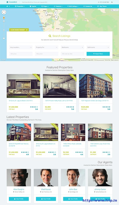 Estate-MLS-Material-Design-WordPress-Theme