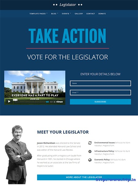 political website template
