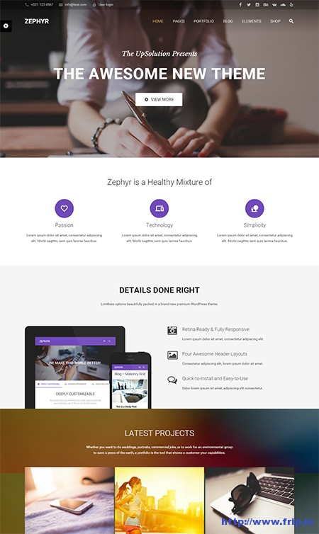 Zephyr-Material-Design-WordPress-Theme