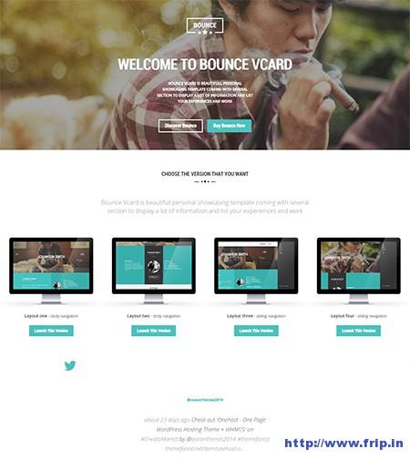 Bounce-vCard-WordPress-Theme