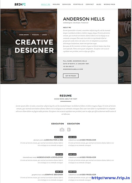 Briwfi-WordPress-Resume-Theme