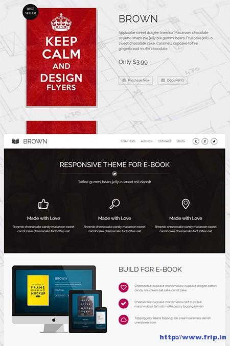 Brown-WordPress-Theme-For-eBook
