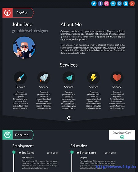 Dash-WordPress-vCard-Theme