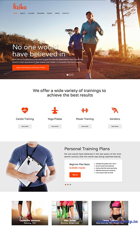 Fiziko-Fitness-WordPress-Theme