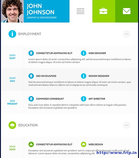 Flat-CV-Resume-WordPress-Theme