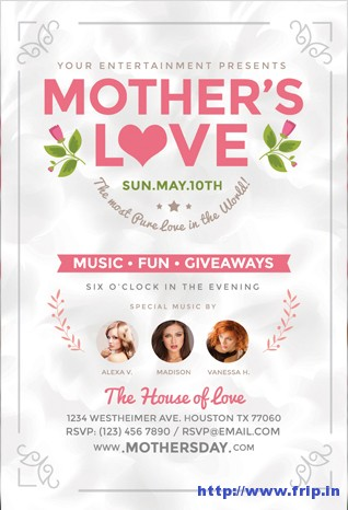 Mothers-Love-Flyer-Template