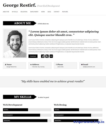 My-CV-Responsive-WordPress-Theme