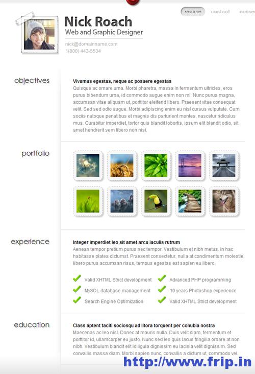MyResume-vCard-WordPress-Theme