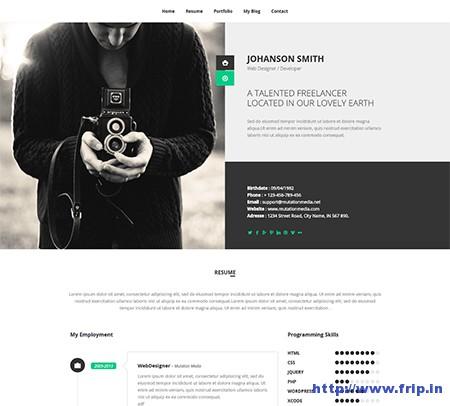 New-Retina-WordPress-vCard-Theme