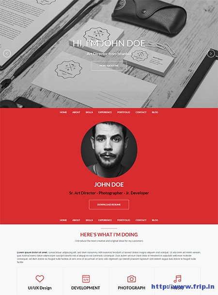 One-WordPress-Resume-Theme