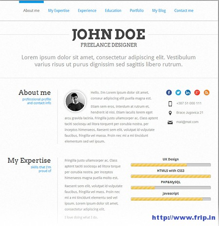 Perfect-CV-Resume-WordPress-Theme